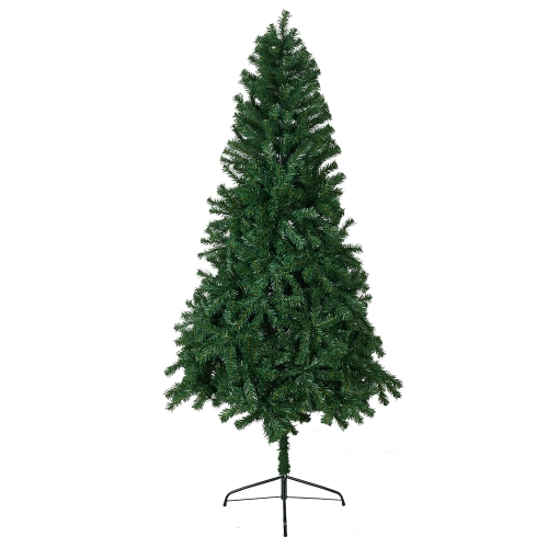 KARMAS 6 Ft High Christmas Tree Unlit Decorate Pine Tree With Metal Legs Green White With Anti-dust Bag