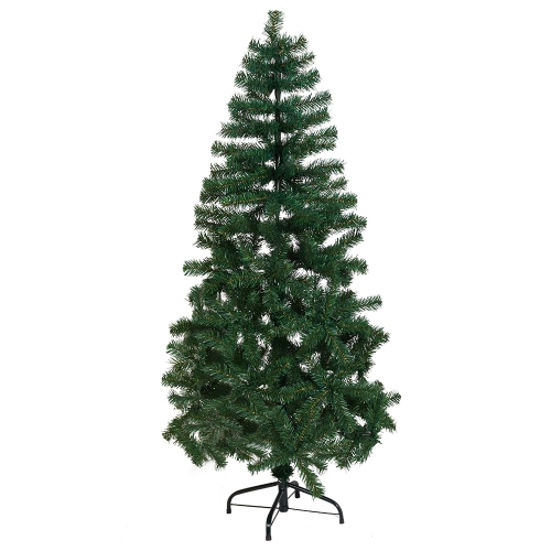 KARMAS 5 Ft Christmas Tree Decorate Pine Tree With Metal Legs Green White With Anti-dust Bag