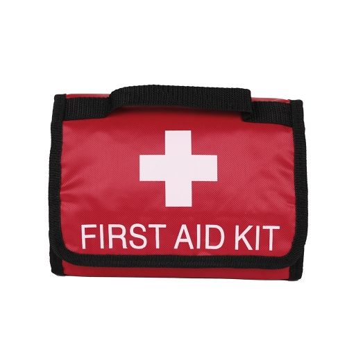 First Aid Medical Kit In Red Fabric Bag Waterproof Portable Medical Emergency  for Camping Hiking Travel