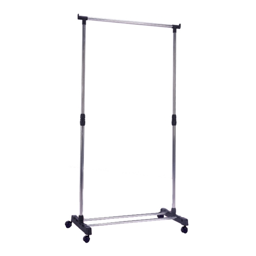 Karmas Portable Single Rod Clothes Rack Adjustable Garment Rack