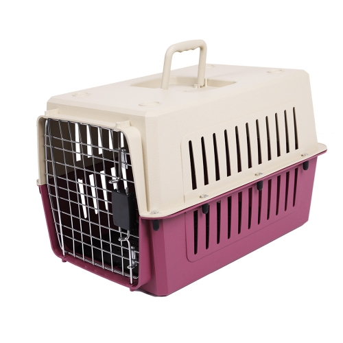 4 Size Plastic Cat & Dog Carrier Cage with Chrome Door Portable Pet Box Airline Approvedarrier Cage Portable