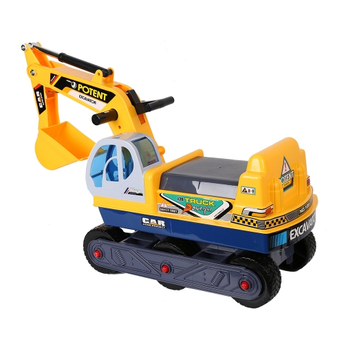 6-Wheel Ride-On Excavator Pretend Play Construction Truck