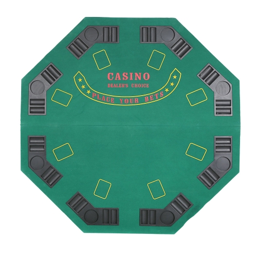 Poker Table Top for 8 Players Poker Blackjack Game Green