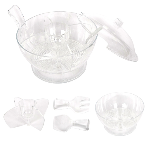Cold Bowl On Ice Serving Bowl With Vented Ice Chamber With Dome Lid,Salad/Fruits/Seafood Servers