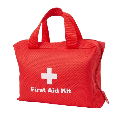 Portable First Aid Kit & Red Cross Medical Emergency Equipment Kits : For Car Kitchen Camping Travel Office Sports And Home