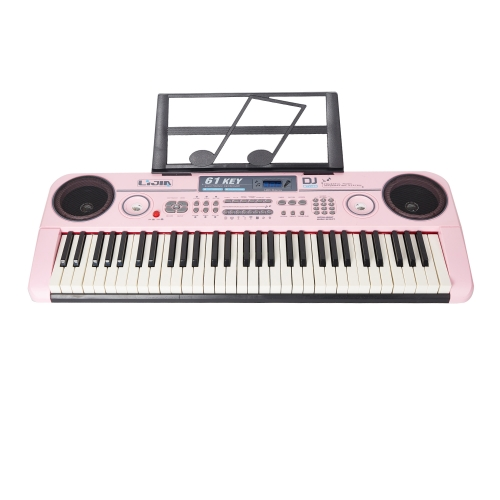 Electronic Music Keyboard Piano with USB & MP3 Input- with the Piano Stand