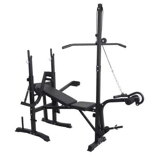 Olympic Weight Bench Adjustable Multi-Functional Workout for Indoor Exercise Fitness