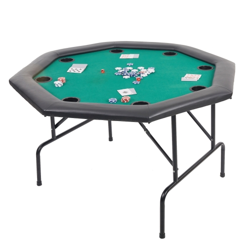 Folding Texas Poker Table wih Cup Holders 8 Players