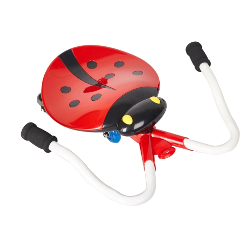 B/O Ride-on Slide Car with Cute Ladybug shape,Music and Light,Red Color