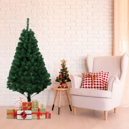 KARMAS PRODUCT 5 Ft Christmas Tree 450 Tips Decorate Pine Tree with Free Decoration Gift