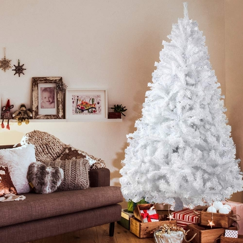KARMAS PRODUCT 7 Ft Christmas Tree 1000 Tips Decorate Pine Tree with Free Decoration Gift