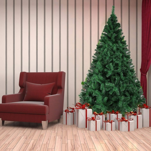 KARMAS PRODUCT 8 Ft Christmas Tree 1500 Tips Decorate Pine Tree with Free Decoration Gift