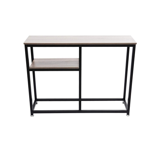 Livebest Sofa Console Table 2-Tier Entryway Table Home Collection Hall Stand TV Media Console for Living Room,Brown