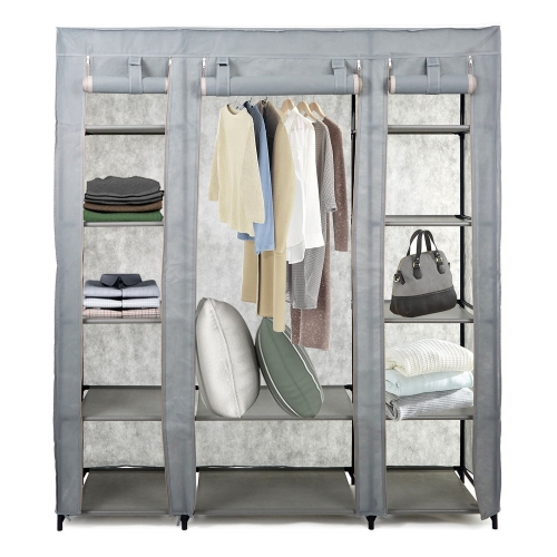 Karmas 5-Tier Portable Wardrobe Clothes Closet with Non-woven Fabric and Steel Tube