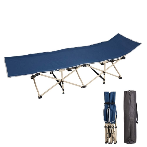 Karmas Folding Camping Bed Outdoor Portable Military Cot Sleeping Hiking Travel Easy to Carry and Store Super Sturdy Titanium Alloy Frame