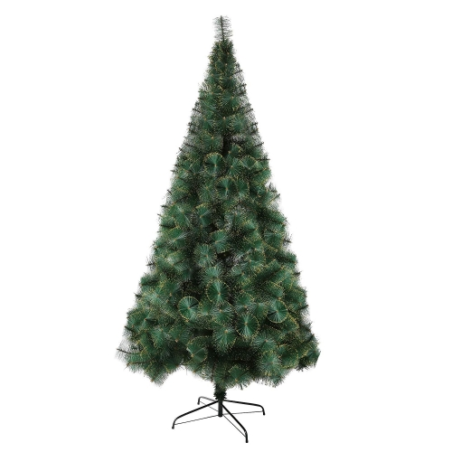 Karmas 8 Ft Christmas Tree 460 Tips Decorate Pine Needles Tree Gold Dot with Free Decoration Gift