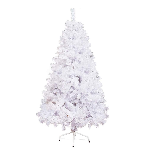 Karmas Product 5 Foot High XMAS Tree 450 Tips Decorate Pine Tree with Metal Legs White, with Decoration