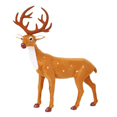 Livebest Craft Christmas Decoration Ornaments Simulation Christmas Reindeer for Home Festival Gift