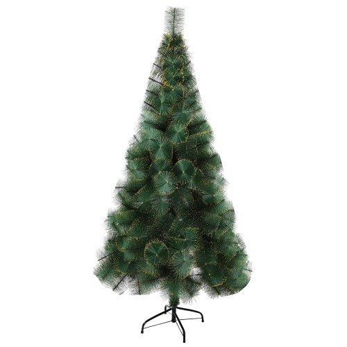 Karmas 6 Ft Christmas Tree 212 Tips Decorate Pine Needles Tree Gold Dot with Free Decoration Gift