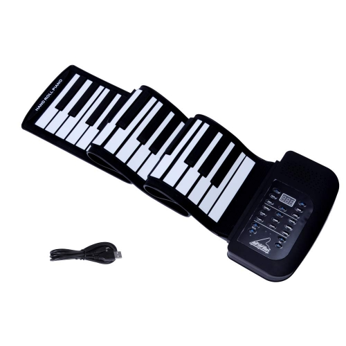 Colortree 61-Keys Roll Up Piano,Upgraded Portable Rechargeable Electronic Hand Roll Piano  for Beginners