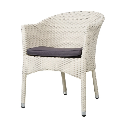 Karmas Outdoor Dining Rattan Chairs Patio Garden Furniture with Seat Cushions,Weave Wicker Armchair