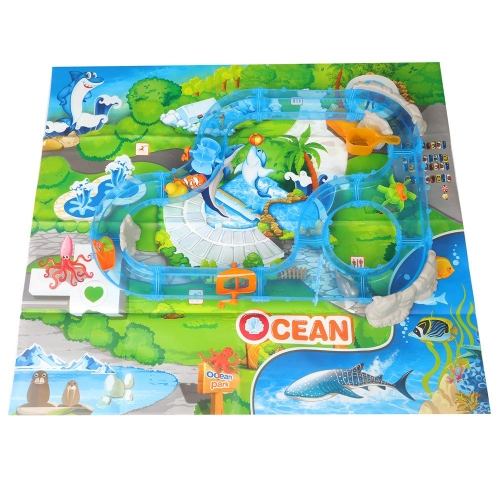 Colortree Water Fun Game 69Pcs Ocean Track Children's Playground Parenting Fishing Game