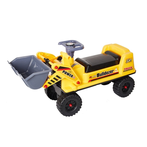 Color Ride-On Bulldozer Tractor Truck Construction Vehicle for Kids