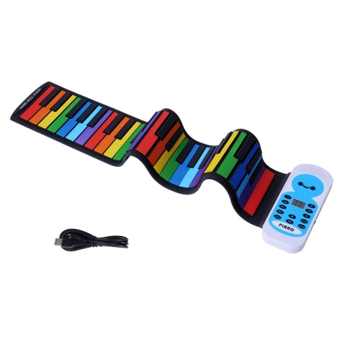ColortreeTravel Piano Foldable 49 Keys Flexible Soft Electric Digital Roll Up Piano Keyboard for Kids and Adults