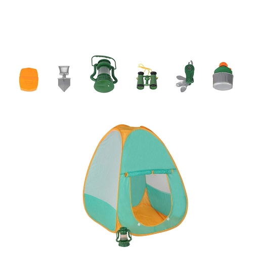 Colortree Kids Camping Set with Tent Camping Gear Tool Pretend Play Set for Toddlers Kids Boys Girls Outdoor Toy Birthday Gift