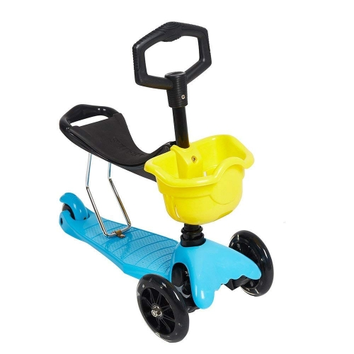 Colortree 2-in-1 Kids Scooter with Removable Seat, 3 Wheel Kick Scooter with PU