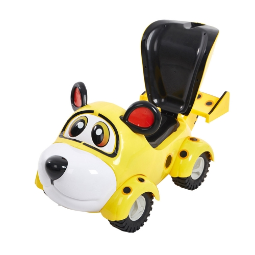Karmas Cute Ride On Car for Toddlers to Enjoy Pushing and Riding Fun,with Backrest