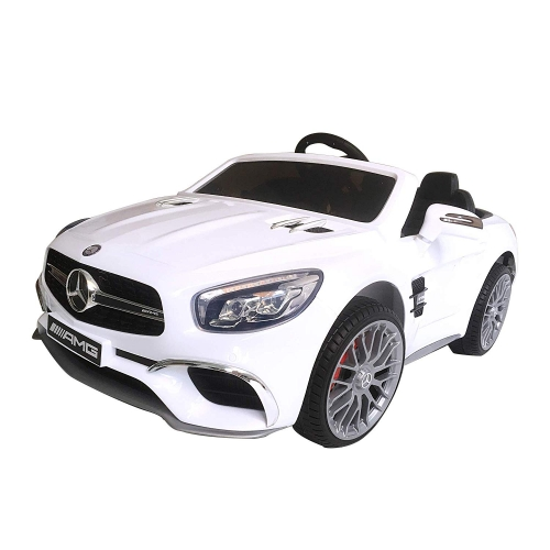 Livebest 12V Kids Electric Ride-On Car with Remote Control with LED Lights MP3 Functions for Boys and Girls,White
