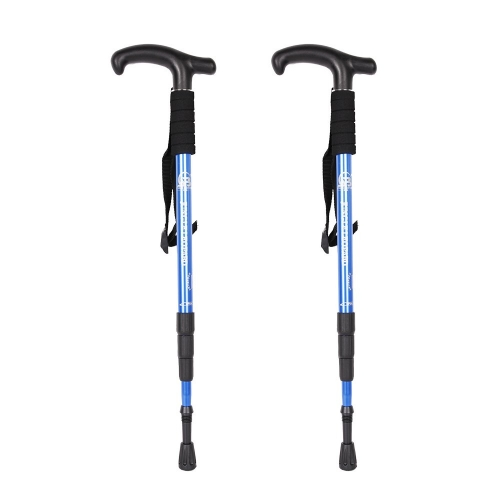 Boson Professional Outdoor Trekking Poles Ultra Light Adjustable Height Anti-Shock Stick for Hiking Walking Trail Climbing, 2 Packs/1 Pair