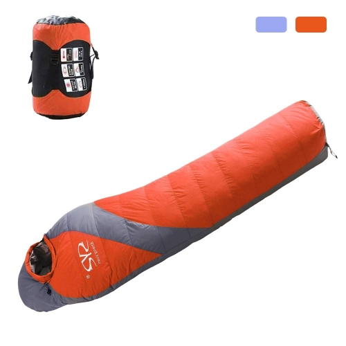 Boson 90% Duck Down Winter Thicken Puffy Mummy Sleeping Bag for Outdoor Sport Traveling Camping Hiking