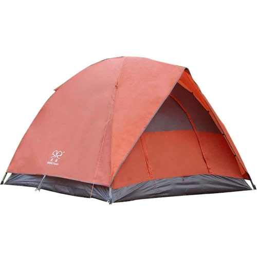 Outdoor Double layer Waterproof Family Tent for Traveling, Camping, Hiking with Portable Bag