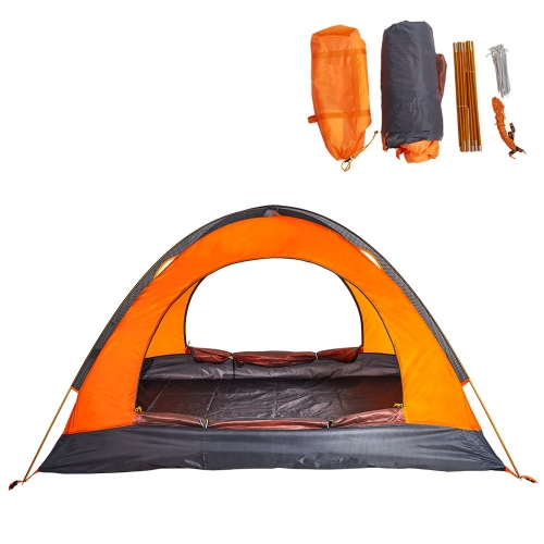 Boson 2 Person Outdoor Tent Waterproof 3 Season 2-Door Tent with Portable Carry Bag for Camping Hiking Backpacking Beach