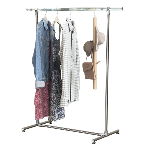 Karmas Heavy Duty Stainless Steel Clothing Garment Rack Single Rail Free Standing Hanging Rack,Aluminium Alloy