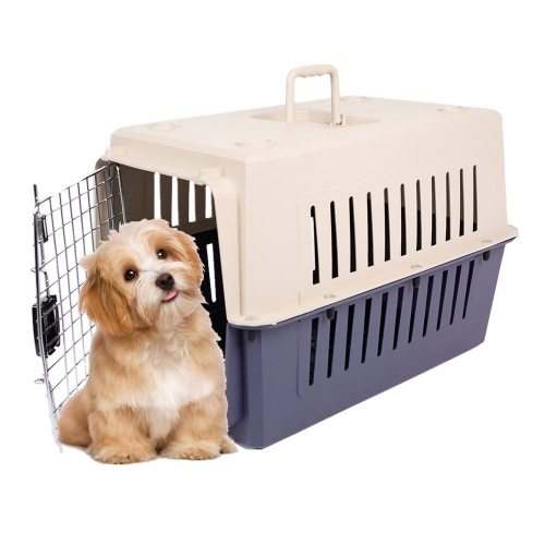 Karmas  Plastic Cat & Dog Carrier Cage with Chrome Door Portable