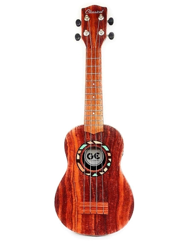 "Colortree 21"" Faux Wood Ukulele Kids 4 String Acoustic Hawaiian Guitar Plastic Ukulele Guitar"