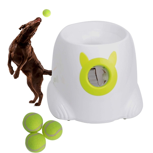 Karmas Interactive Ball Launcher for Dogs with Tennis Balls,Tennis Ball Throwing Machine for Training