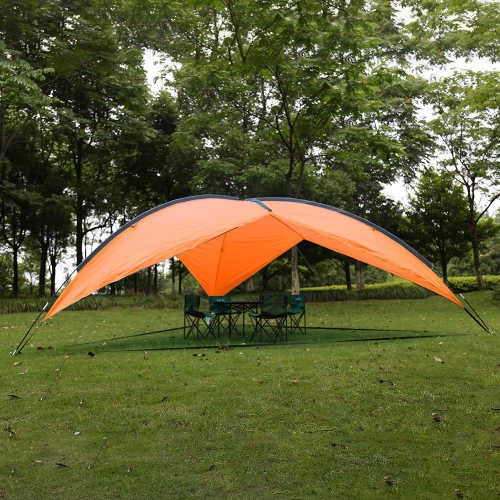 Karmas Large Canopy Tent Beach Tent Anti-UV Sun Shelter Easy Setup Portable Lightweight Sun Shade Tarp