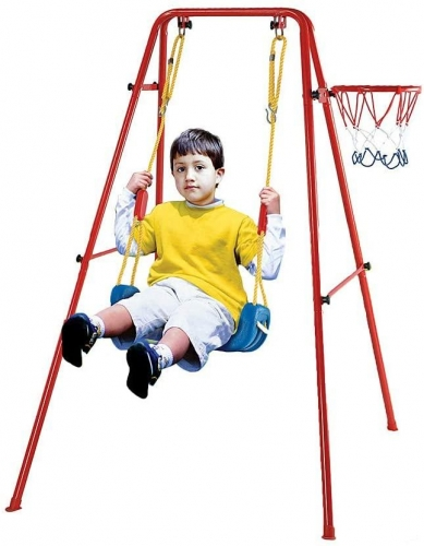Toddler Swing Playset | 2 in 1 Swing Basketball Combination Swing Toys Set for Kids(Bench)